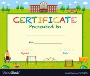 Certificate Template With School In Background with regard to Free School Certificate Templates