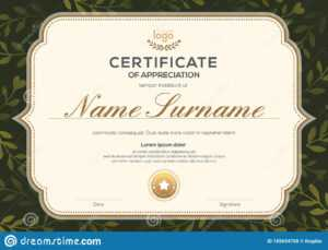 Certificate Template With Vintage Frame On Dark Green Floral regarding Commemorative Certificate Template