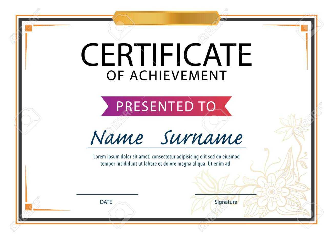 Certificate Template,diploma Layout,a4 Size ,vector Throughout Certificate Template Size