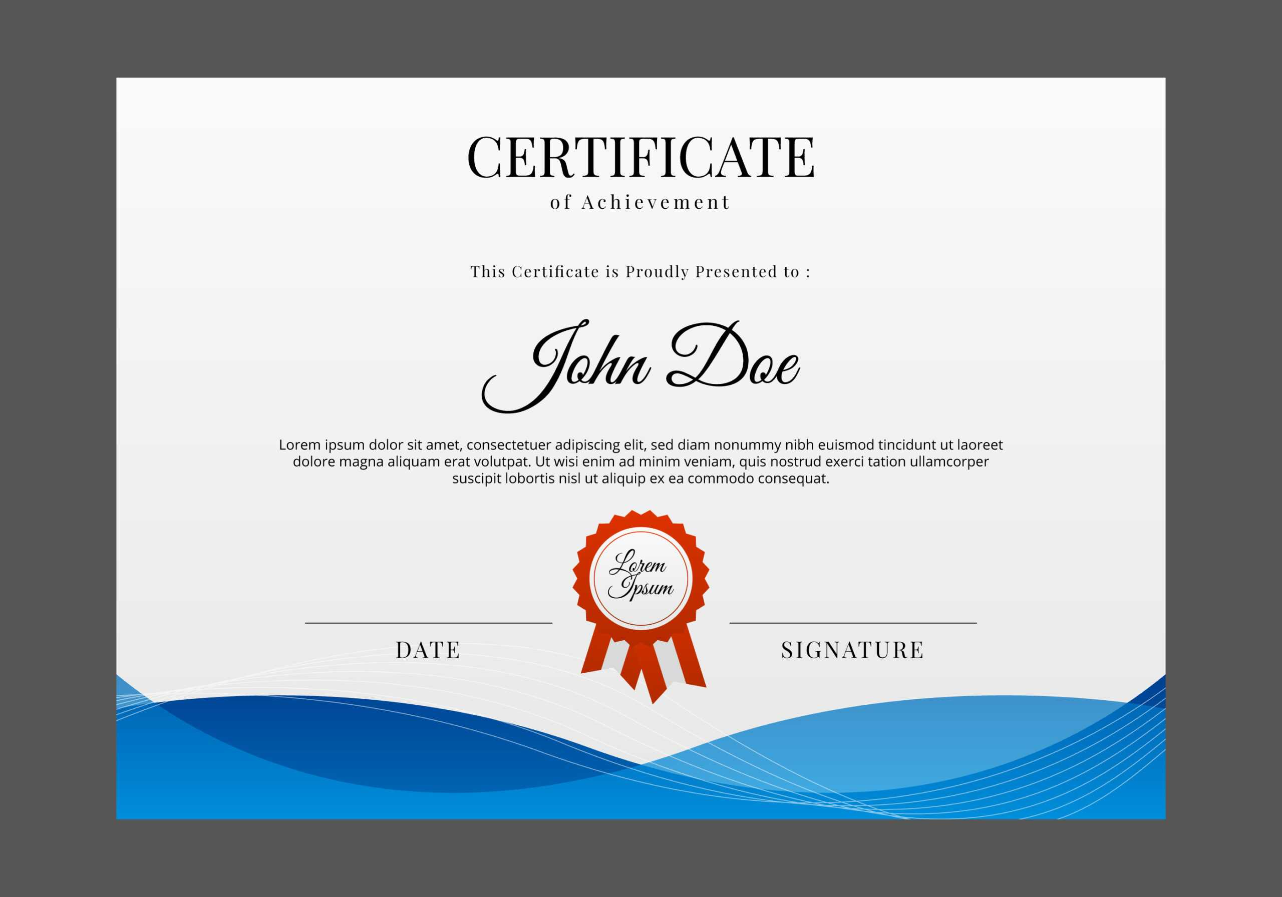 Certificate Templates, Free Certificate Designs Pertaining To Professional Certificate Templates For Word