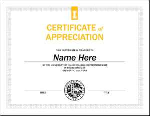 Certificate Templates – U Of I Brand Resource Center within Safety Recognition Certificate Template