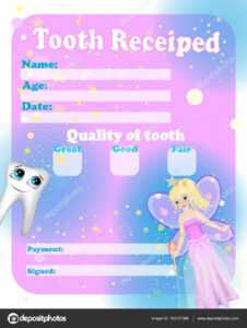 Certificate Tooth Fairy. Cute Tooth Fairy Receipt pertaining to Free Tooth Fairy Certificate Template