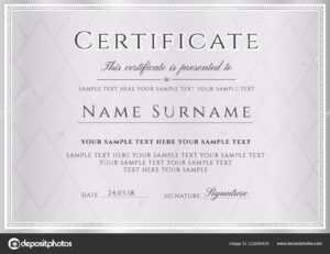 Certificate Vector Template Formal Silver Border Geometric with regard to Formal Certificate Of Appreciation Template