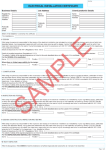 Certificates | Everycert pertaining to Minor Electrical Installation Works Certificate Template