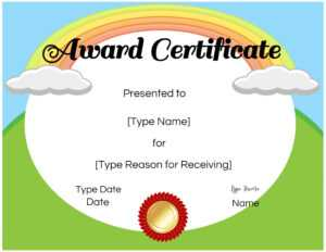 Certificates For Kids for Free Printable Graduation Certificate Templates