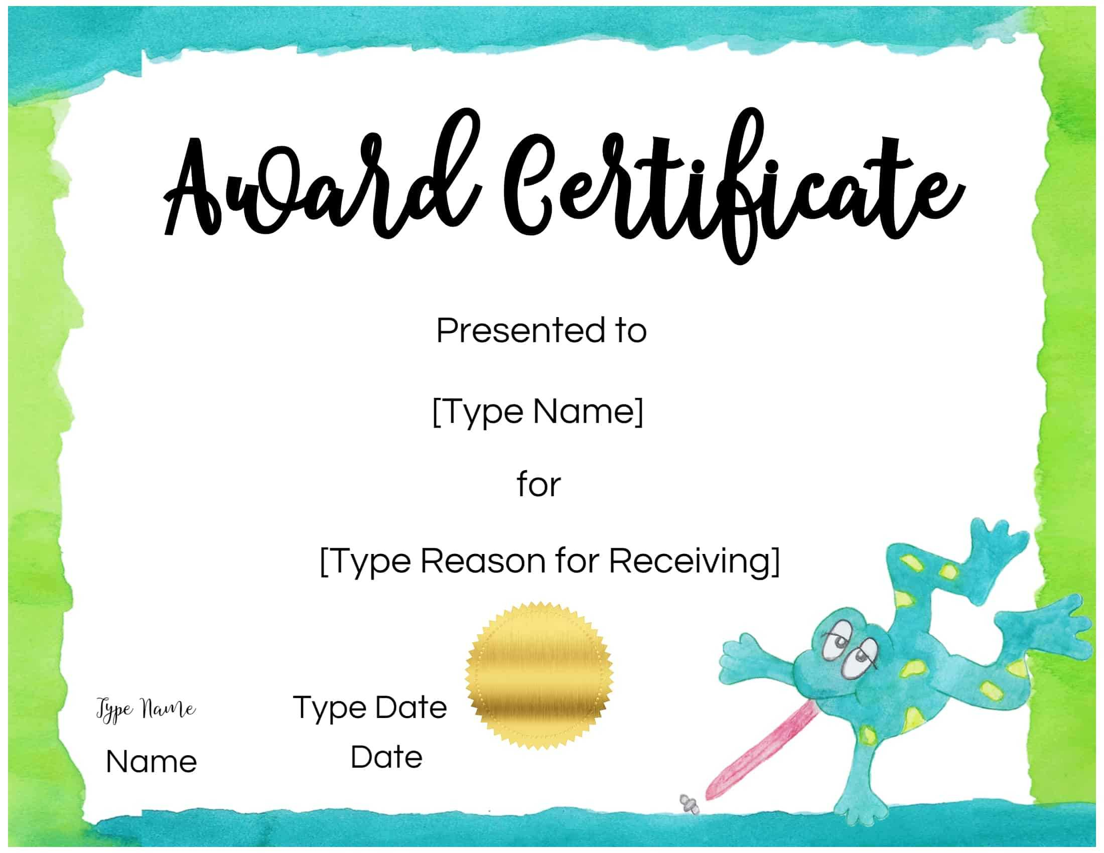 Certificates For Kids Pertaining To Free Kids Certificate Templates