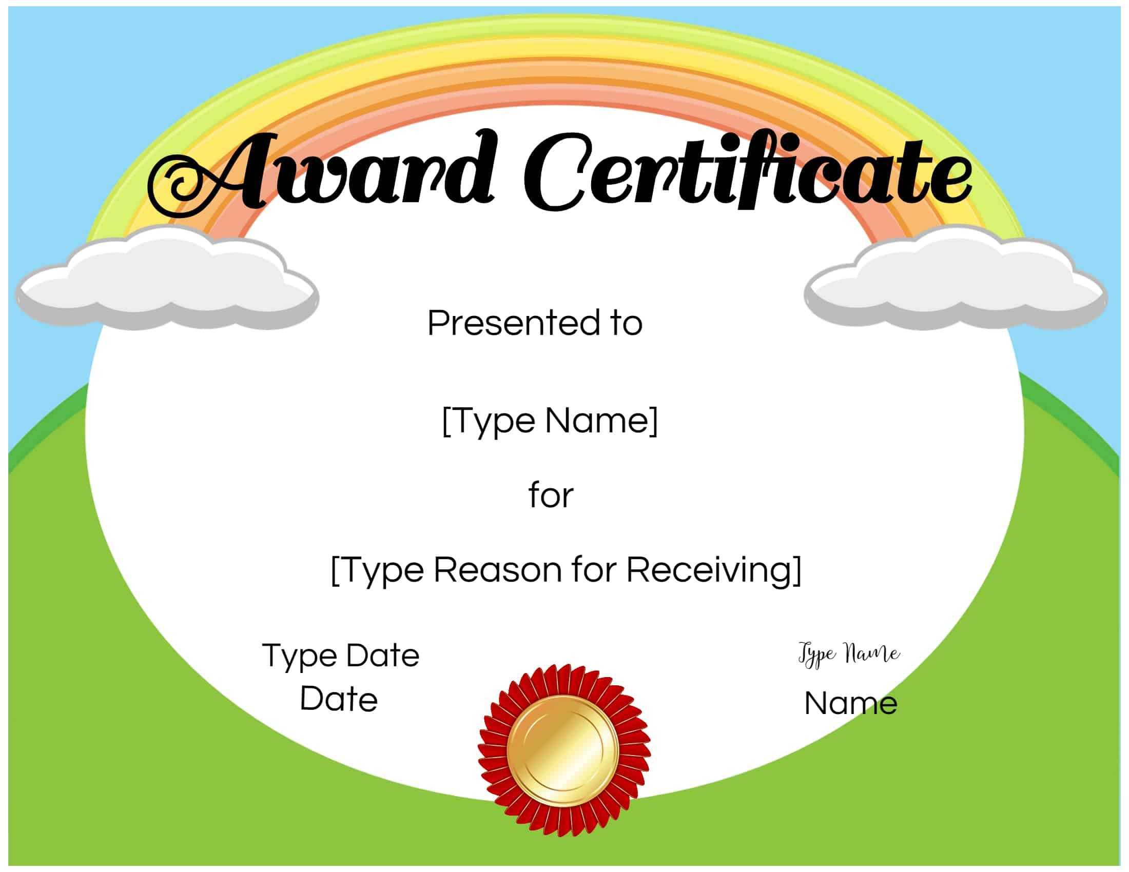 Certificates For Kids Pertaining To Preschool Graduation Certificate Template Free