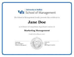 Certificates – School Of Management – University At Buffalo with Masters Degree Certificate Template