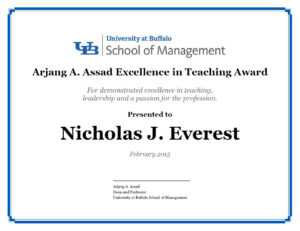 Certificates – School Of Management – University At Buffalo within Classroom Certificates Templates