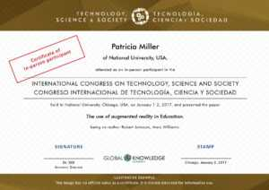 Certificates – Technology, Science And Society for International Conference Certificate Templates