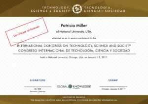 Certificates – Technology, Science And Society with Certificate Of Attendance Conference Template