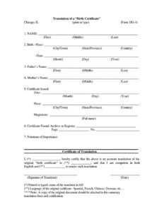 Certified Long Form Copy Of Marriage Lovely Sample Death pertaining to Death Certificate Translation Template