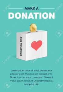 Charity And Donation Poster Set. Flat Design. For Background.. with regard to Donation Card Template Free