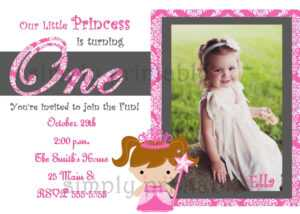Cheap First Birthday Invitation Template – Bagvania within First Birthday Invitation Card Template