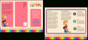 Child Care Brochure Template 11 throughout Daycare Brochure Template