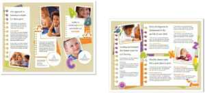 Child Care Brochure Template 5 pertaining to Daycare Brochure Template
