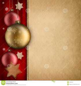 Christmas Card Template – Baulbles And Stars Stock regarding Christmas Photo Cards Templates Free Downloads