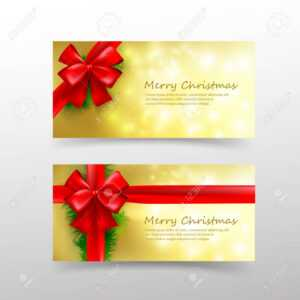 Christmas Card Template For Invitation And Gift Voucher With.. intended for Present Card Template