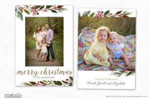 Christmas Card Template For Photographers Cc190 throughout Holiday Card Templates For Photographers