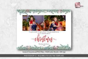 Christmas Card Template For Photographers intended for Christmas Photo Card Templates Photoshop
