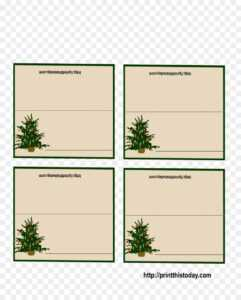 Christmas Card Template Png Download – 1275*1575 – Free intended for Table Place Card Template Free Download
