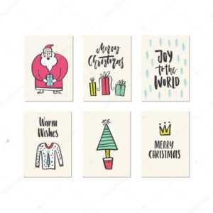 Christmas Card Templates — Stock Vector © Favetelinguis199 for Christmas Note Card Templates