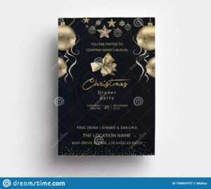 Christmas Dinner Party Invitation Card Template Stock Vector with regard to 4X6 Photo Card Template Free