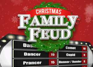 Christmas Family Feud Trivia Powerpoint Game – Mac And Pc throughout Family Feud Game Template Powerpoint Free