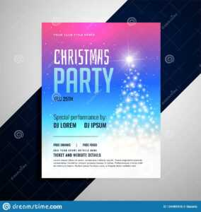 Christmas Flyer Template With Glowing Tree And Colorful with regard to Christmas Brochure Templates Free