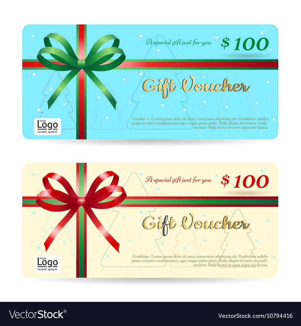 Christmas Gift Card Or Gift Voucher Template Pertaining To Christmas Gift Certificate Template Free Download