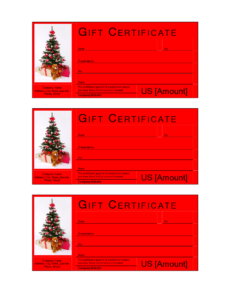 Christmas Gift Certificate Template | Templates At inside Free Christmas Gift Certificate Templates