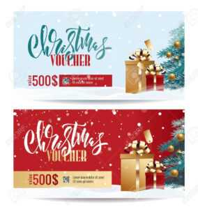 Christmas Gift Voucher Coupon Discount. Gift Certificate Template.. regarding Merry Christmas Gift Certificate Templates