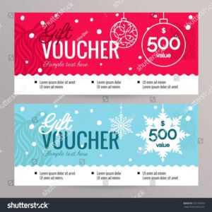 Christmas Gift Voucher Coupon Discount Gift Stock Image within Merry Christmas Gift Certificate Templates