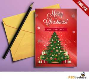 Christmas Greeting Card Free Psd | Psdfreebies for Free Christmas Card Templates For Photoshop