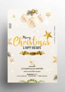 Christmas & Holiday – Free Invitation & Flyer Psd Template in Christmas Brochure Templates Free