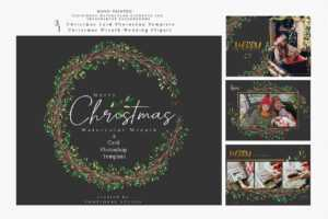 Christmas Photo Card Template – 3Motional pertaining to Christmas Photo Card Templates Photoshop