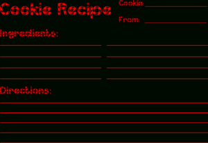 Christmas Recipe Card Templates – Cookie Exchange Intended For Cookie Exchange Recipe Card Template