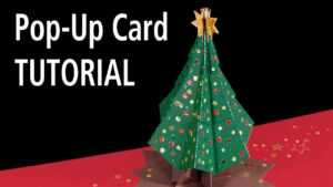 Christmas Tree Pop-Up Card Tutorial intended for 3D Christmas Tree Card Template