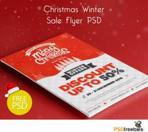 Christmas Winter Sale Flyer Psd Freebie | Psdfreebies intended for Christmas Brochure Templates Free