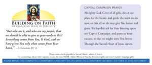 Church Capital Campaign Pledge Card Samples for Church Pledge Card Template
