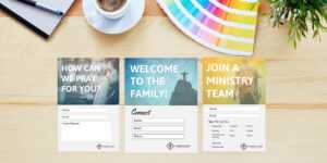 Church Contact Card Template – Tomope.zaribanks.co for Church Pledge Card Template