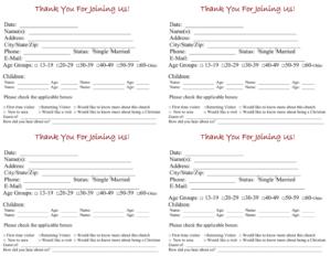 Church Contact Card Template – Tomope.zaribanks.co in Church Pledge Card Template