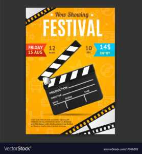 Cinema Movie Festival Poster Card Template with Film Festival Brochure Template