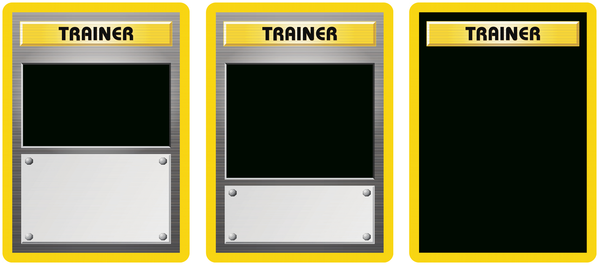 Classic Trainer With Expanded  And Full Art Blanks Pertaining To Pokemon Trainer Card Template