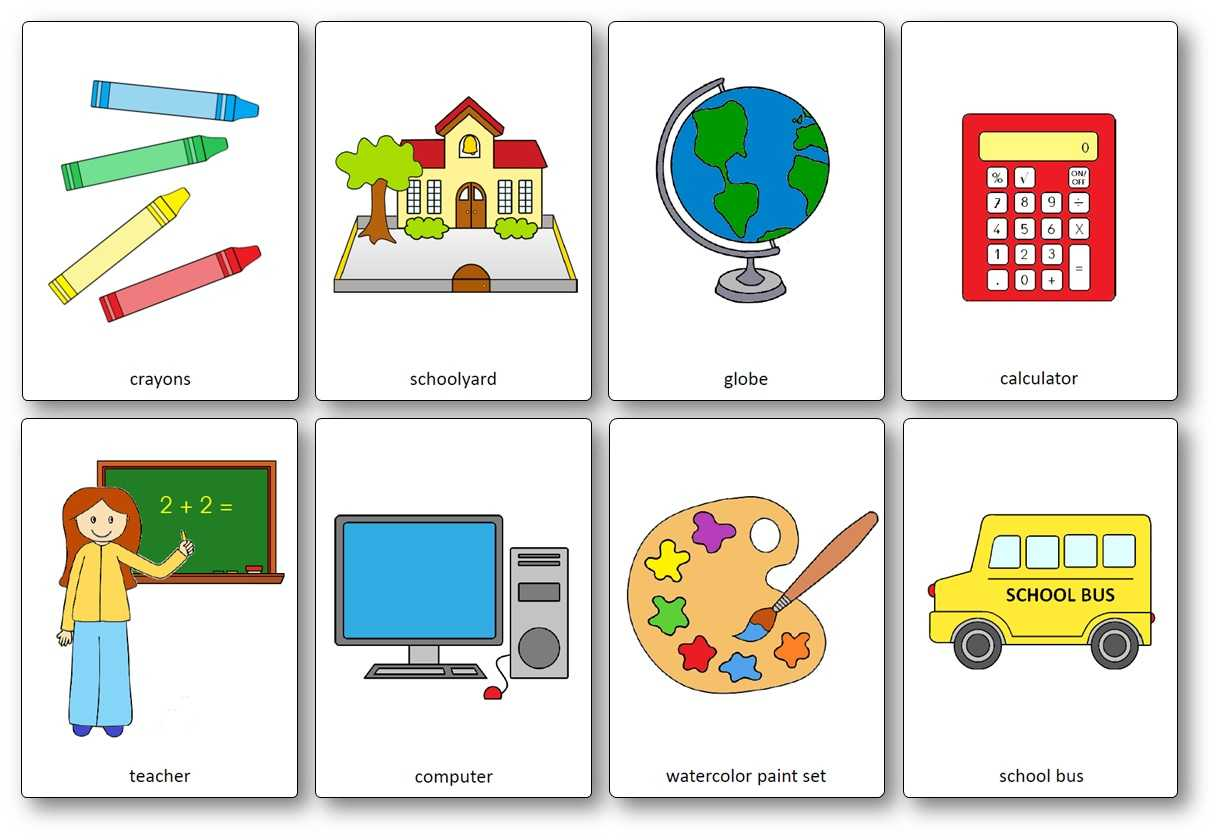 Classroom Objects Flashcards - Free Printable Flashcards Intended For Free Printable Flash Cards Template