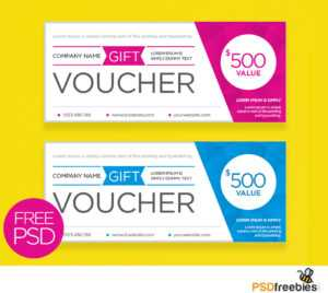 Clean And Modern Gift Voucher Template Psd | Psdfreebies intended for Company Gift Certificate Template