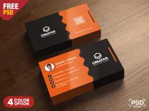 Clean Business Card Psd Templates – Uxfree with regard to Name Card Photoshop Template