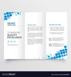 Clean Tri-Fold Brochure Template Design With Blue for Tri Fold Brochure Template Illustrator