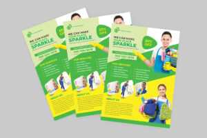 Cleaning Flyer Template On Sdm Creative Collective throughout Commercial Cleaning Brochure Templates