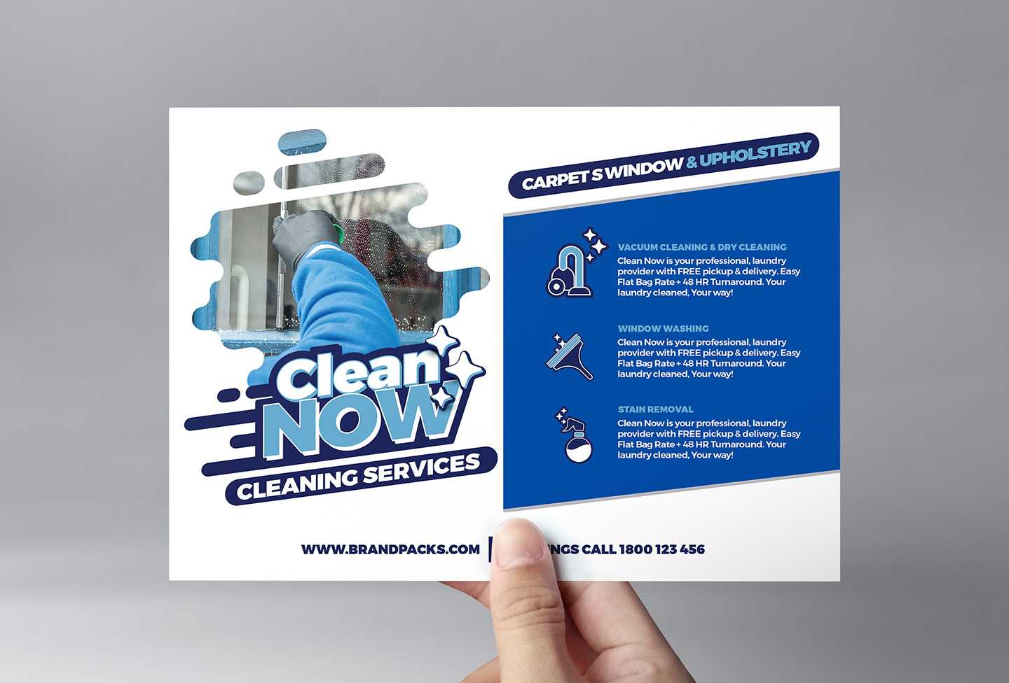 Cleaning Service Flyer Template In Psd, Ai & Vector - Brandpacks With Regard To Cleaning Brochure Templates Free